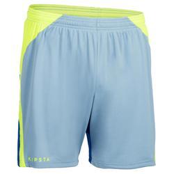 Pantalón corto V500 hombre azul y amarillo