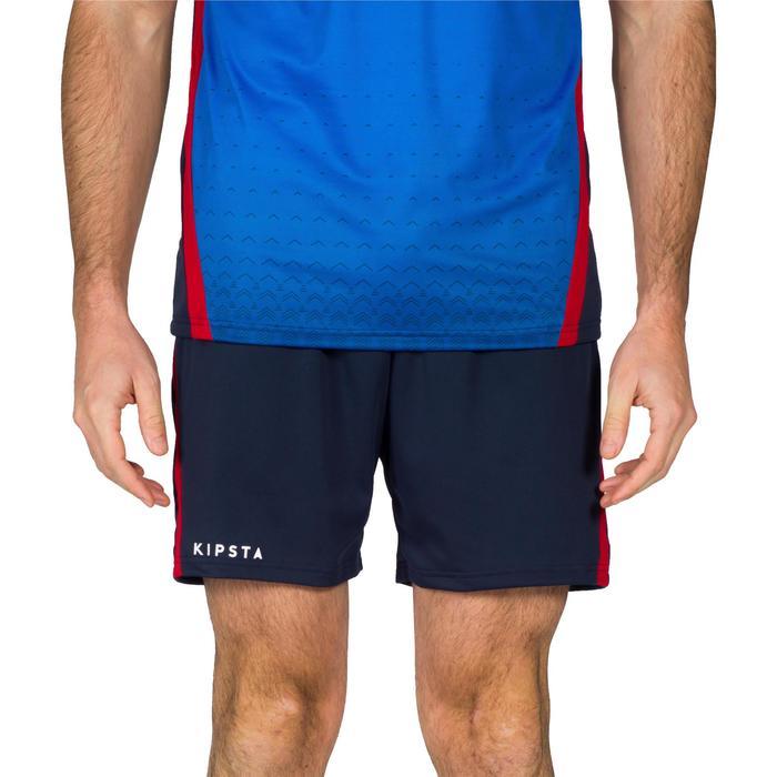 Pantalón corto V500 hombre azul y rojo