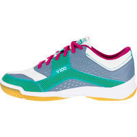 V100 Women's Volleyball Shoes - Blue/Green
