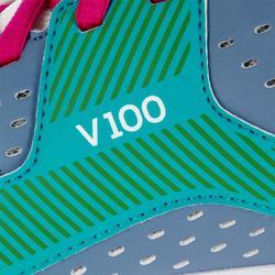 Volleyballschuhe V100 Damen blau/grün