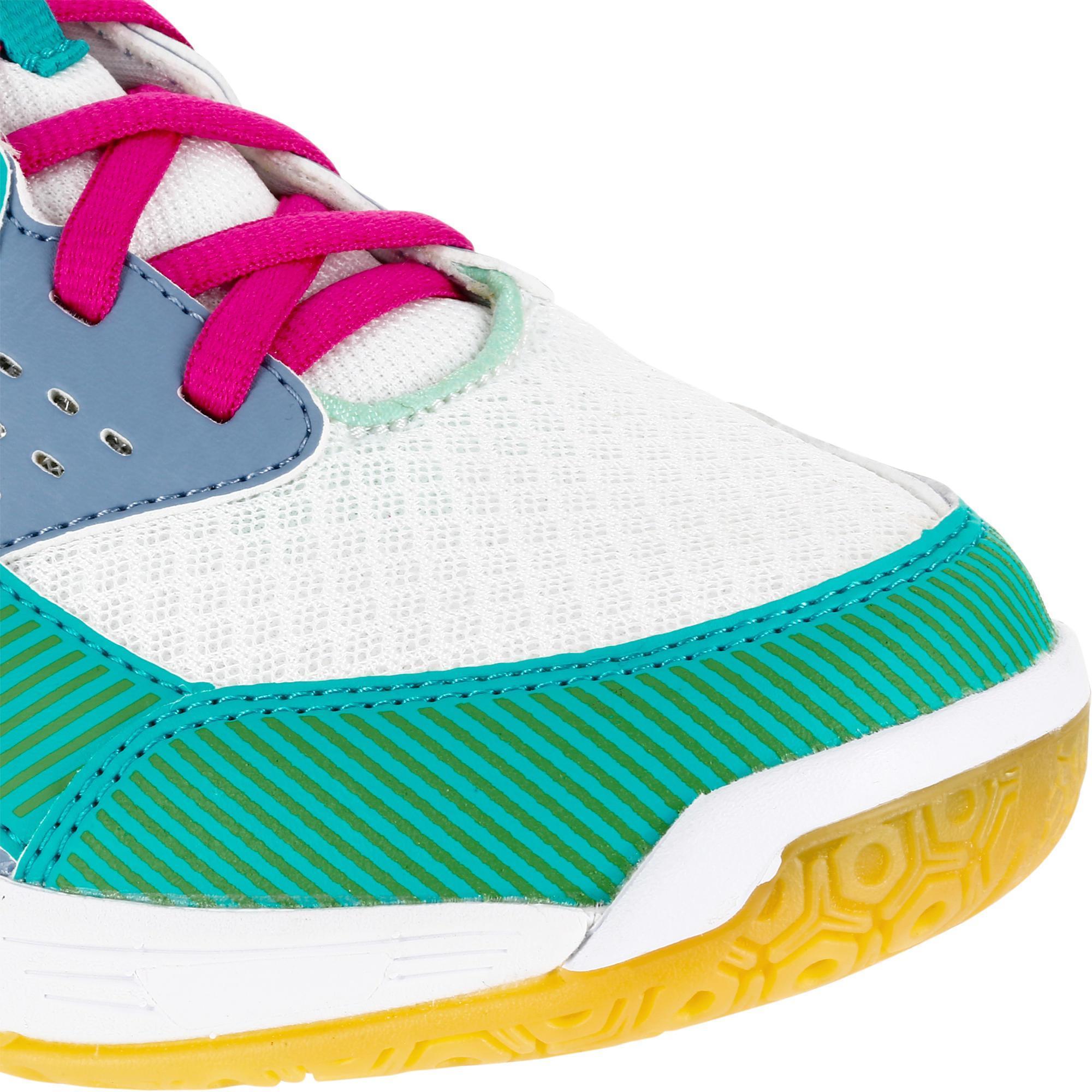 vertes ball V100 de Chaussures volley Decathlon et bleues femme Kipsta  t4w8qpt bcb55322b69f