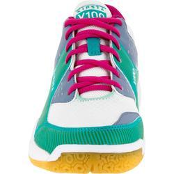 Volleybalschoenen voor dames V100 blauw/groen