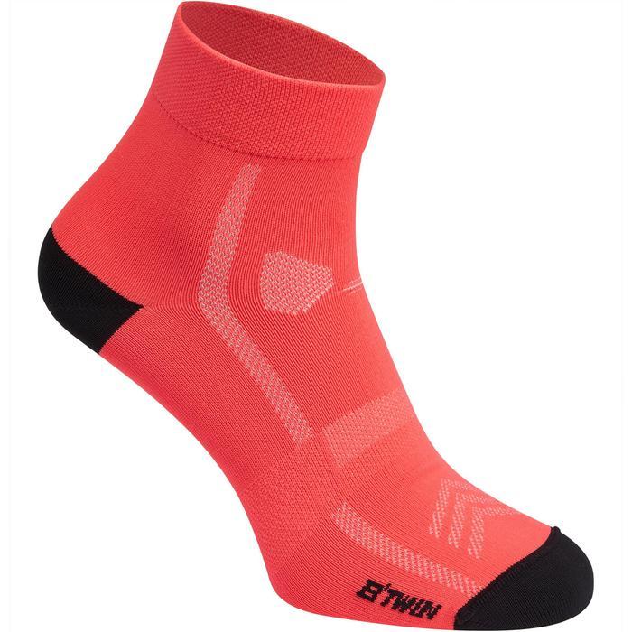 Fahrrad-Socken Rennrad RR 500 rosa