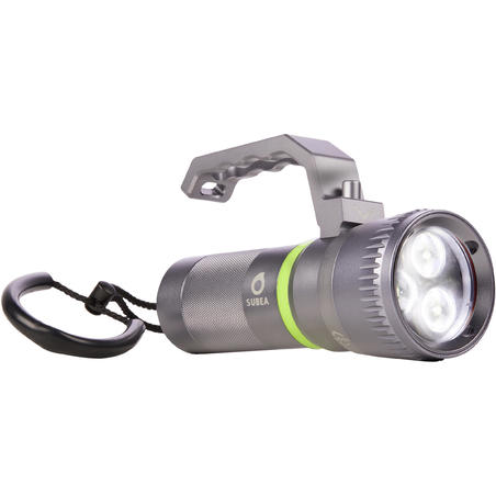 Rechargeable diving torch, 800 Lumens, wide beam, and adjustable