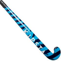 Hockeystick beginnende kinderen / volw. occasioneel FH100 hout geel en blauw