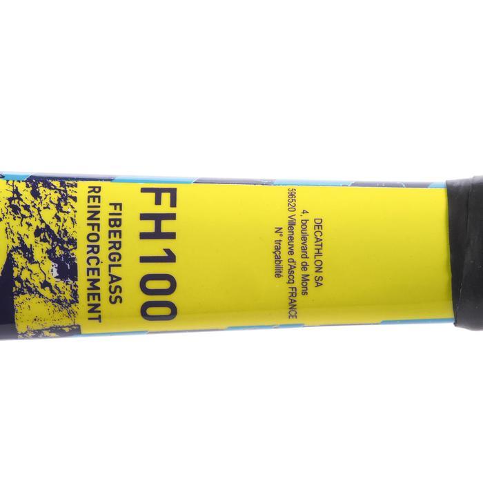 Hockeystick beginnend kind/recreatief volwassene hout/FB FH100 geel en blauw