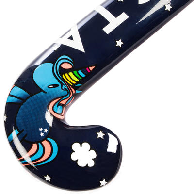 Stick de hockey sur gazon enfant débutant bois FH100 Licorne
