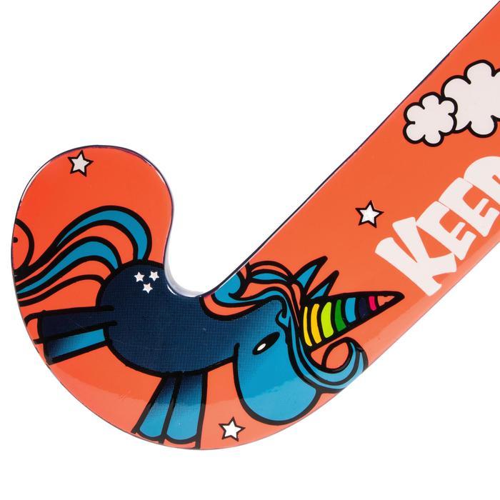 Stick de hockey sobre hierba niños iniciación madera FH100 unicornio