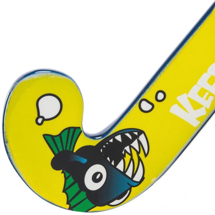 Stick Hockey Hierba Kipsta FH100 Niños Iniciación Madera Pirañas