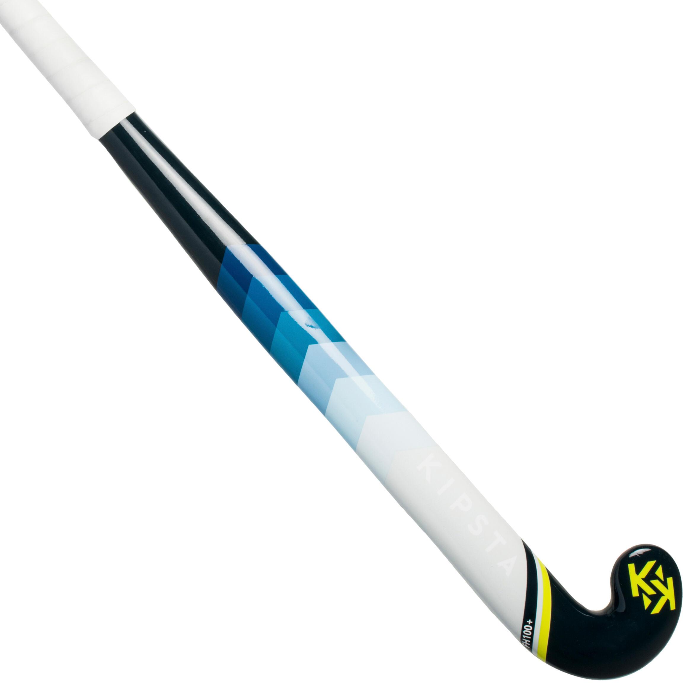 Kipsta Hockeystick voor gevorderde kinderen en volwassenen glasvezel FH110 blauw geel