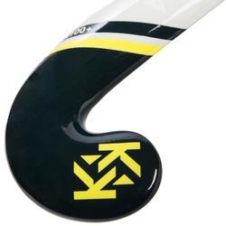 Hockeystick voor gevorderde kinderen en volwassenen glasvezel FH110 blauw geel