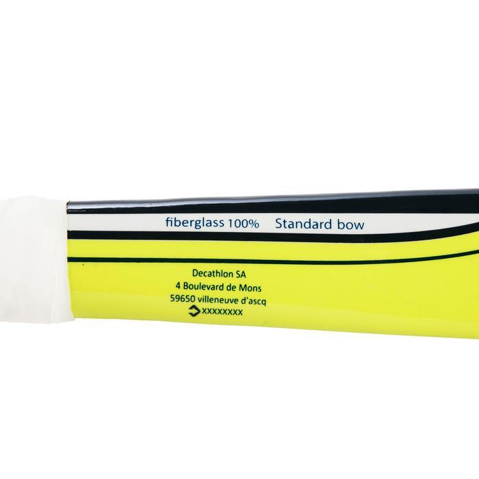 Stick de hockey sur gazon enfant confirmé/adulte débutant fiberglass FH110 jaune