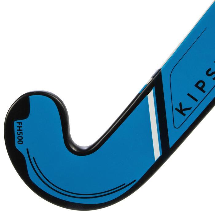 Stick de hockey sur gazon adulte confirmé midbow 50% carbone FH500 bleu