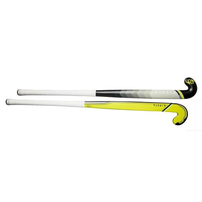 Stick de hockey sur gazon adulte confirmé midbow 50% carbone FH500 jaune
