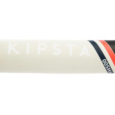 Stick de hockey sur gazon adulte confirmé midbow 50% carbone FH500 corail