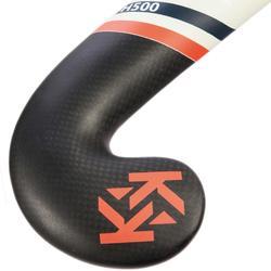 Feldhockeyschläger FH500 Erwachsene Mid Bow 50% Carbon rot