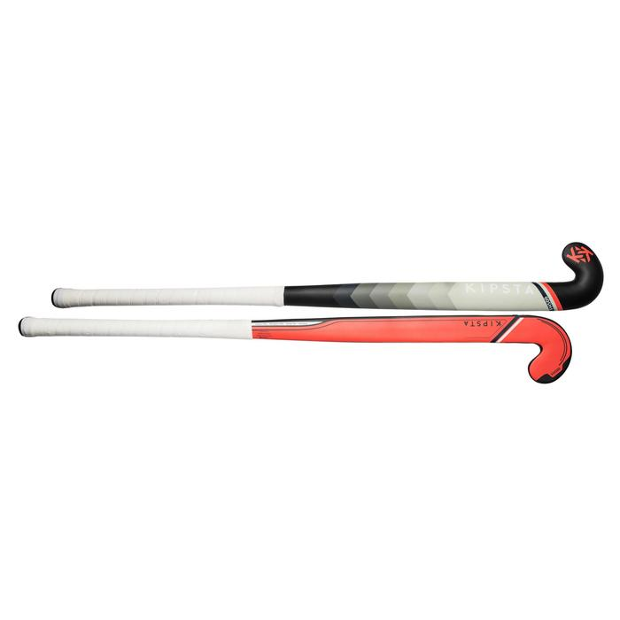 Stick de hockey sur gazon adulte confirmé midbow 50% carbone FH500 corail