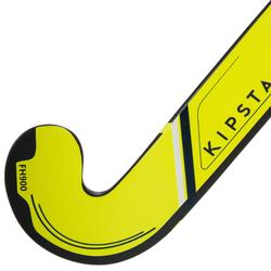 Hockeystick voor volwassen experts low bow 95% carbon FH900 geel