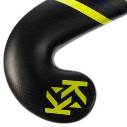 Stick de hockey sobre hierba adulto experto lowbow 95% carbono FH900 amarillo