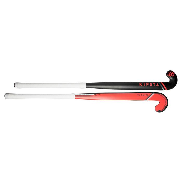 Feldhockeyschläger FH900 Erwachsene Low Bow 95% Carbon rot