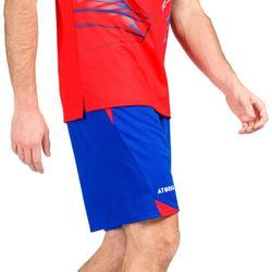 Short de balonmano H500 hombre Azul y Rojo