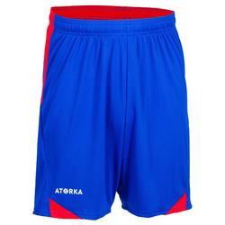 Handbalshort voor heren H500 blauw / rood