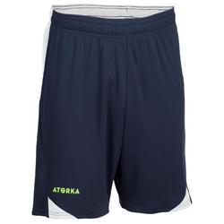Handbalshort voor heren H500 blauw / grijs