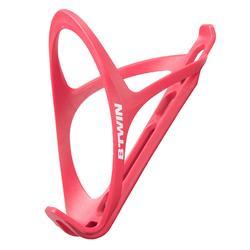 Portabidón Bicicleta Ciclismo Btwin Triban 500 Rosa Frambuesa Plástico