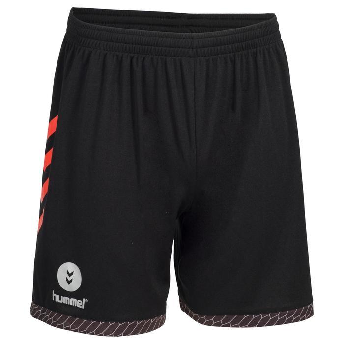 Handballshorts Herren grau/rot