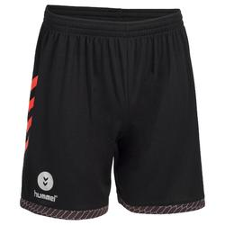 Short de Handball adulte Hummel de couleur gris et rouge