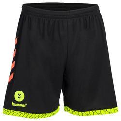 Handbalshort voor heren zwart / oranje / geel