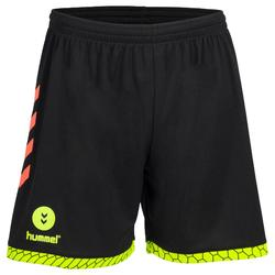 Short de handball hummel homme noir orange jaune