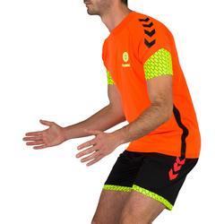 Short de handball hummel homme noir orange jaune