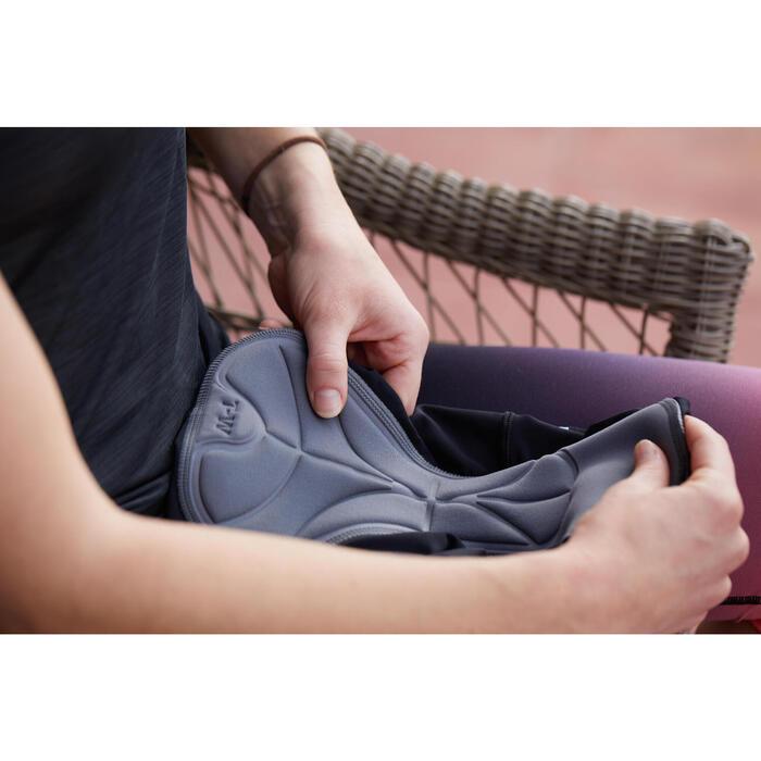 Trisuit dames / meisjes zwart roze mouwloze trisuit