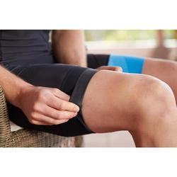 Mouwloze trisuit met front zip voor heren SD triatlon zwart blauw