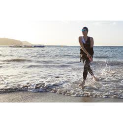 Tritraje Triatlón Aptonia Mujer SD Negro/Rosa Sin Mangas Cremallera Delante