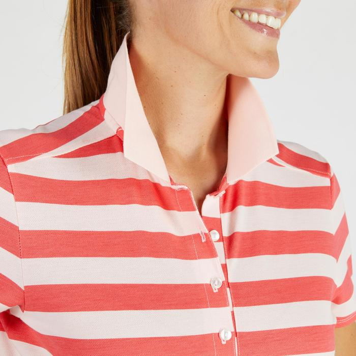 520 Women's Golf Short Sleeve Warm Weather Polo - Pink/Strawberry