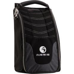 Golf Shoe Bag Black with Mat
