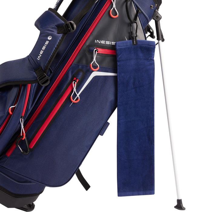 Driedubbel gevouwen handdoek voor golf blauw