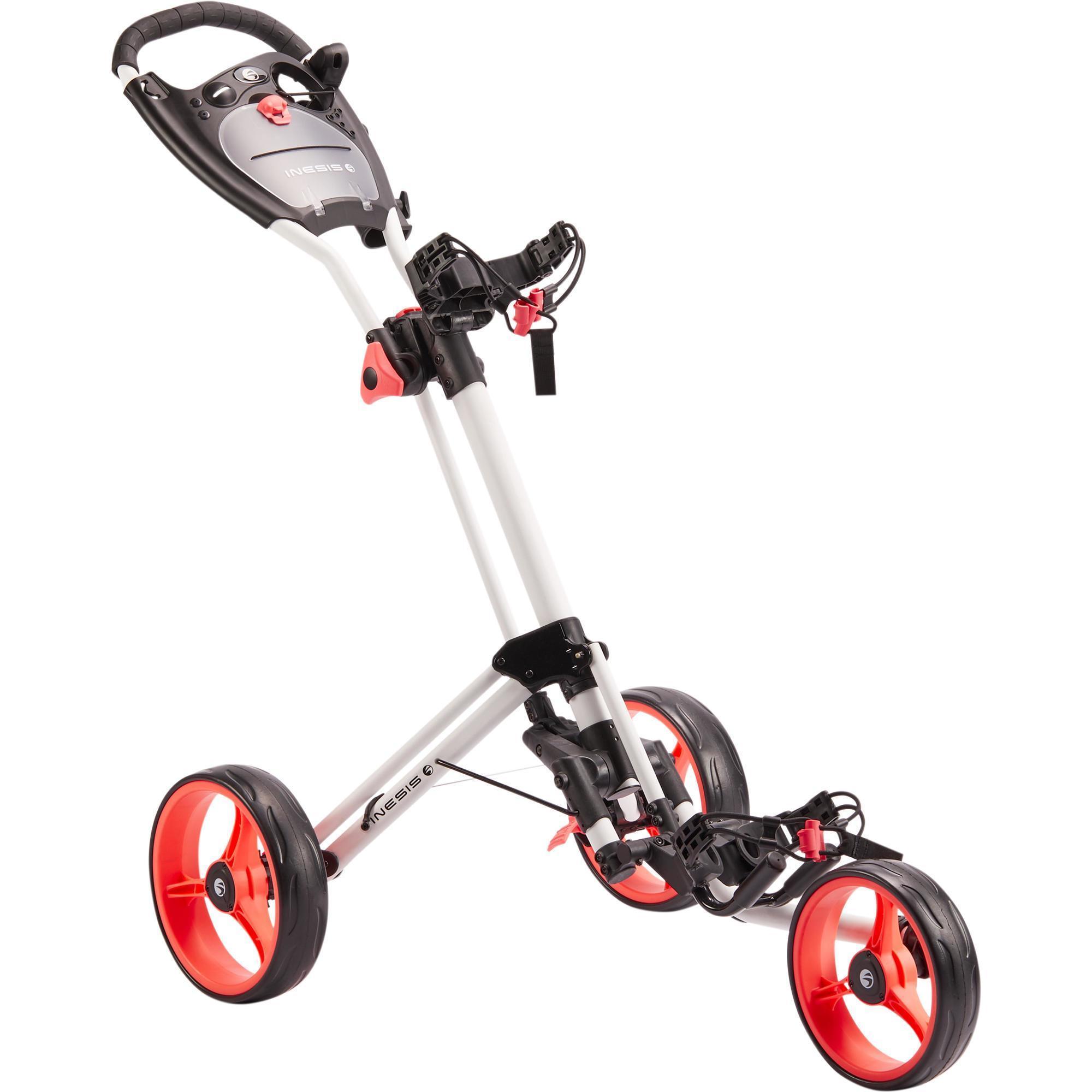 chariot de golf 3 roues 900 blanc inesis golf. Black Bedroom Furniture Sets. Home Design Ideas