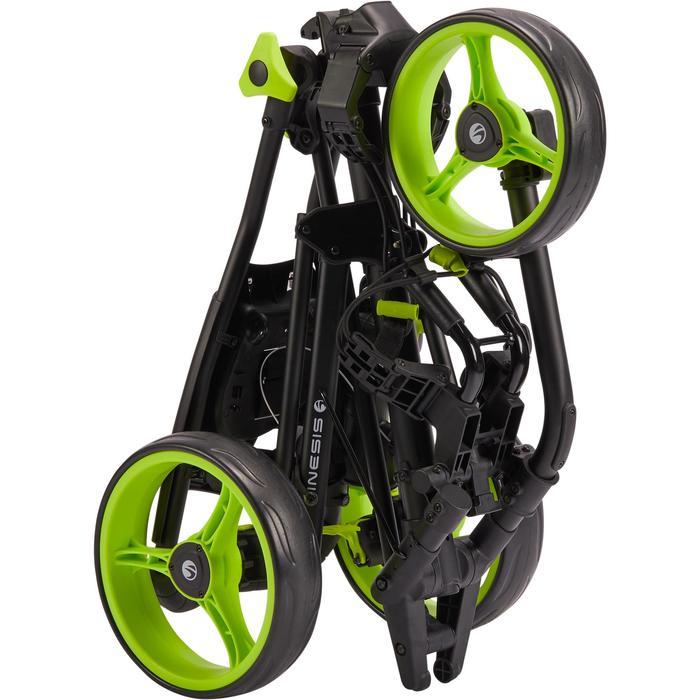 Driewiel golftrolley 900 zwart en fluogeel