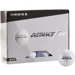 Golfbal Distance 100 x12 wit