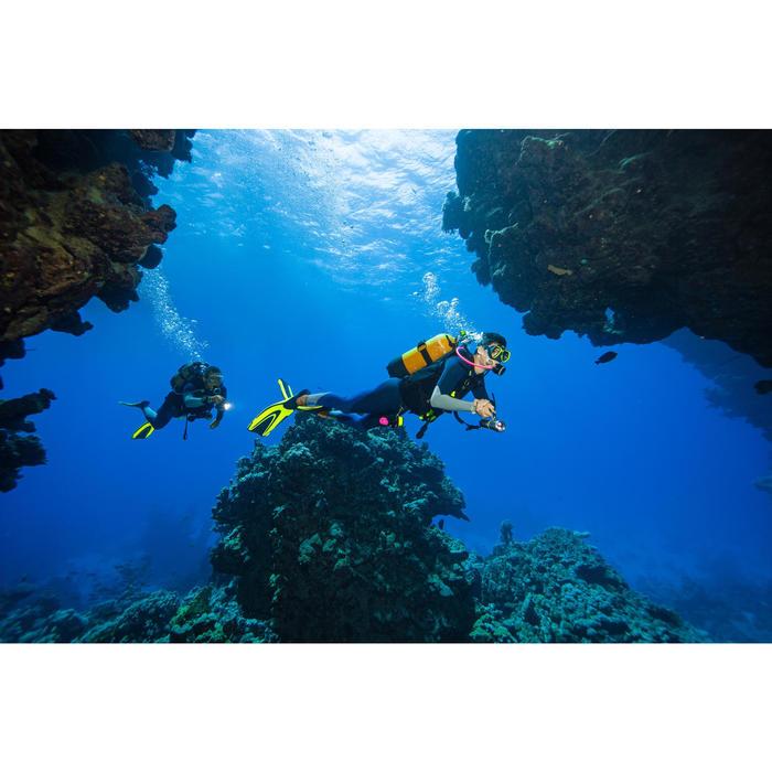 Flexible détendeur de plongée sous-marine Hyperflex tressé SCD rose fluo 76 cm