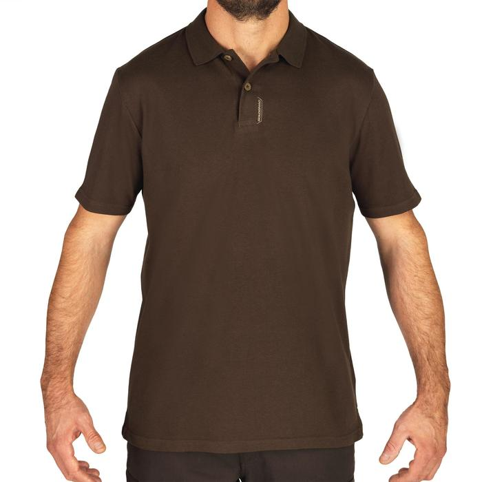 Polo manches courtes chasse 100 marron