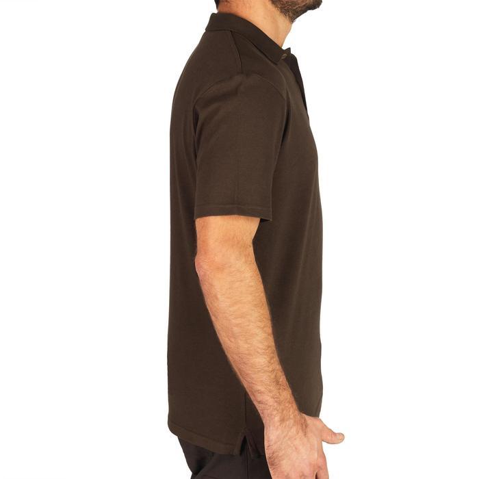 Polo met korte mouwen voor de jacht 100 bruin