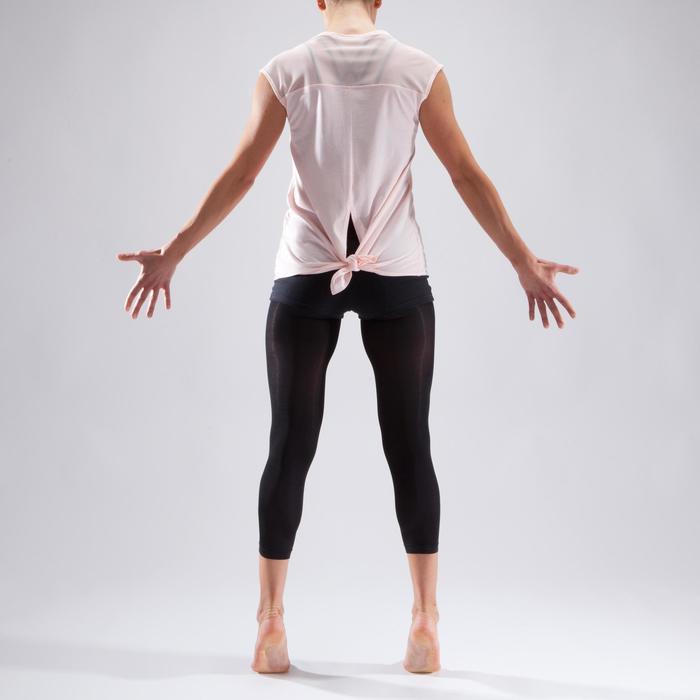 T-shirt manches courtes de danse femme rose pâle - 1324050