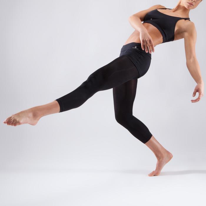 Brassière à fines bretelles croisées danse femme noire - 1324058