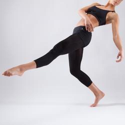 Danstopje met smalle gekruiste bandjes voor dames zwart