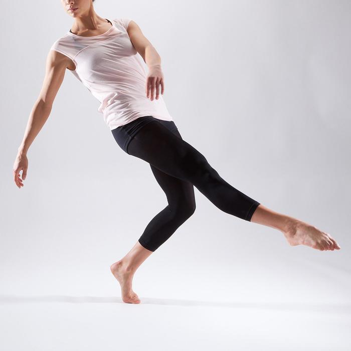 T-shirt manches courtes de danse femme rose pâle - 1324061