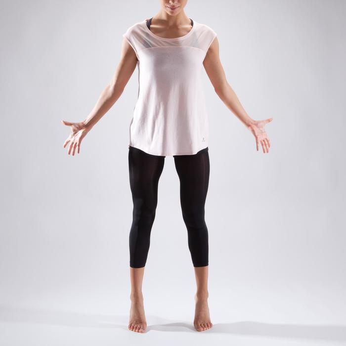 T-shirt manches courtes de danse femme rose pâle - 1324068